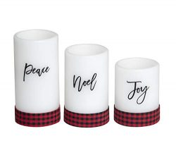 Candle Flameless LED with Timer (3×4, 3×5, 3×6) 3pc Sentiments with Ribbon