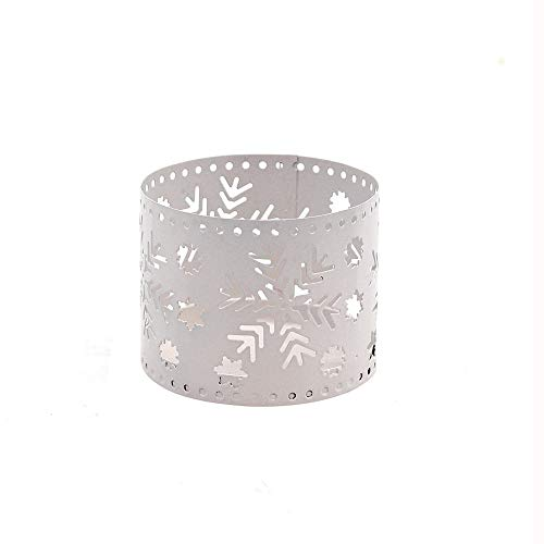 Christmas Candle Holder Centerpiece Hollow Snowflakes Reindeer Elk Spruce Graphic DIY Tealight C ...