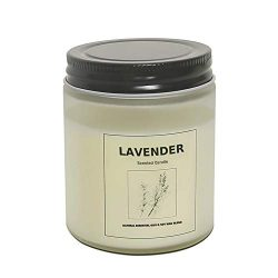 Candles, Natural Scented Soy Candle, Highly Scented and Long Burning Aromatherapy Jar Candles fo ...