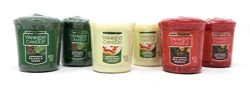 Yankee Candle Holiday Scented Votive Candles – Balsam & Cedar, Christmas Cookie, Red A ...