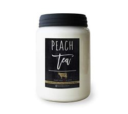 Milkhouse Candle Company, Farmhouse Collection Mason Jar Candle, 26 Ounce Apothecary Jar, Peach Tea