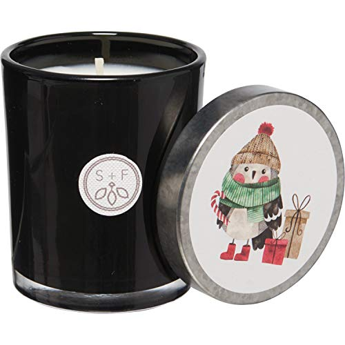 Sand + Fog Winter Pine Professionally Painted Snowman with Presents Candle – 4 oz.