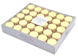 Ivory Unscented Votive Candle – Set of 30 | Bulk Pack for Weddings, Bridal Showers or Home ...