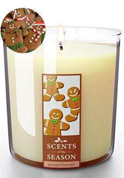 Christmas Candles Gingerbread Cookie Scent | All-Natural Clean Soy Candle | Highly Scented | Del ...