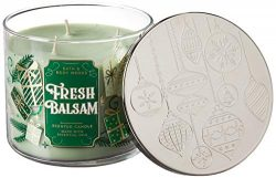 Bath and Body Works 3 Wick Scented Candle Fresh Balsam 2019 14.5 Ounce