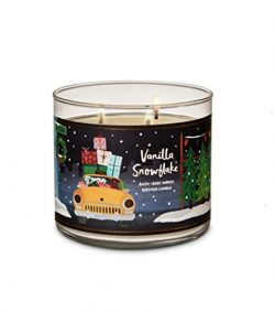 Bath & Body Works 3-Wick Candle in Vanilla Snowflake (2018)
