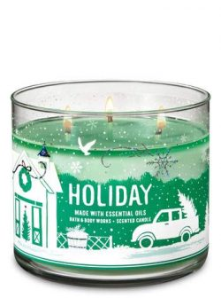 White Barn Bath & Body Works 3 Wick Candle Holiday