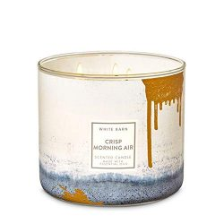 Bath & Body Works Crisp Morning Air 3-Wick Candle with Essential Oils 14.5 oz / 411 g