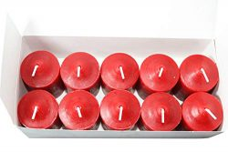 Enlightened Ambience Dickens Christmas Scented Red Votive Candles 10 Pack