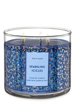 White Barn Bath & Body Works 3 Wick Candle Sparkling Icicles