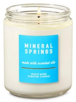 Bath and Body Works White Barn 1 Single Wick Scented Candle 7 Oz. Mineral Springs