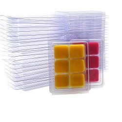 DGQ Wax Melt Molds – 25 Packs Clear Empty Plastic Wax Melt Clamshells for Wickless Wax Mel ...