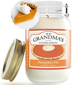 Pumpkin Pie Spice Mason Jar Candle   Soy Highly Scented Candle   Delicious Smelling   Extra Clea ...