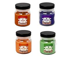 J&J's ToyScape 3 Oz Halloween Theme Party Fall Candles Fragrances (Pack of 4 Jars R ...