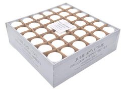 White Unscented Votive Candle – Set of 72 | Bulk Pack for Weddings, Bridal Showers or Home ...