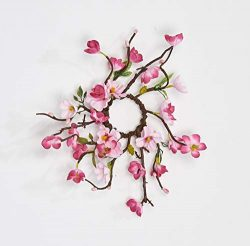 Worth Imports 1.25″ Cherry Blossom Candle Ring, Pink