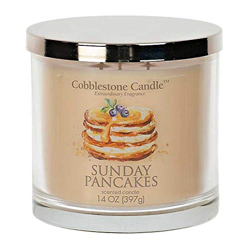 Sunday Pancakes Scented Jar Candle | Home Decor, Soy Wax Blend with Triple Wick | 30-50 Hour Bur ...
