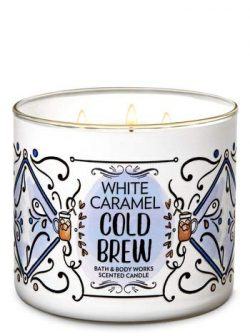 Bath and Body Works White Caramel Cold Brew 3 Wick Candle 14.5 Ounce