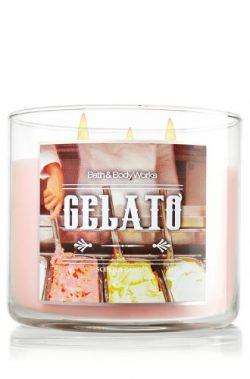 Bath & Body Works GELATO candle 14.5 oz 3 wick Italia scent line