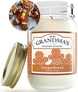 Gingerbread Cookie Mason Jar Candle | Soy Highly Scented Candle | Delicious Smelling | Extra Cle ...