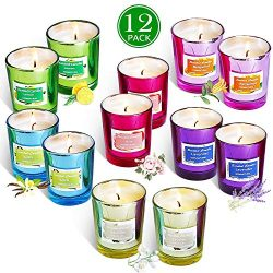 Addbeaut Scented Candles Gift Set, Natural Soy Wax 2 Oz Per Cup Portable Glass Candles Women Gif ...
