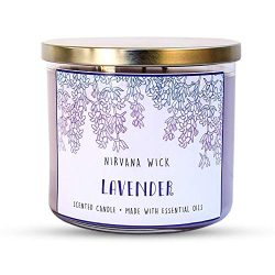Lavender, Scented 3-Wick Candle │16 oz Aromatherapy