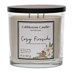 Cozy Fireside Scented Jar Candle | Home Decor, Soy Wax Blend with Triple Wick | 30-50 Hour Burn Time