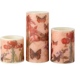 Lily's Home Flameless LED Pillar Candles, Aesthetic Home and Living Room Decor, 3-inch, 4- ...