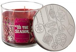 White Barn Bath and Body Works Tis The Season for 2019 Scented 3 Wick Candle 14.5 Ounce (Rich Re ...