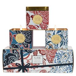 LA JOLIE MUSE Scented Aromatherapy Candles Gift Set – 3 Natural Soy Candles Essential Oils ...