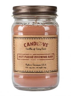 CANDLOVE Scented Candles 100% Soy Large Mason Jar Candle Made in The USA Scented (Hot Fudge Brow ...