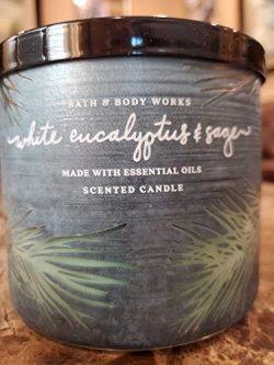 Bath & Body Works Scented Candles 3 Wick Winter White Eucalyptus & Sage 14.5 oz