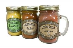 Our Own Candle Company Our Own Espresso, Hot Buns, and French Vanilla-Latte Da Variety Scented M ...