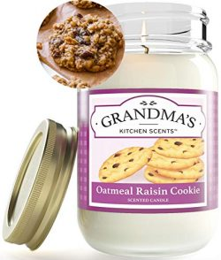 Oatmeal Raisin Cookie Mason Jar Candle | Soy Highly Scented Candle | Delicious Smelling | Extra  ...