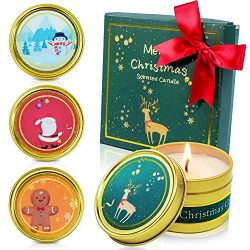 SCENTORINI Christmas Scented Candles Gift Set, Soy Wax Scented Candle, Aromatherapy Candles, 4X  ...