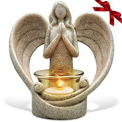 OakiWay Memorial Gifts – Tealight Candle Holder Sympathy Gift, with Flickering Led Candle, ...