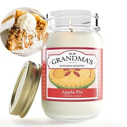 Apple Pie Mason Jar Candle | Soy Highly Scented Candle | Delicious Smelling | Extra Clean Burnin ...
