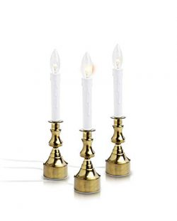 New Ideal Lights Dimmable Window Candle Electric with Multi Timer IR Controller, Metal Base Chri ...