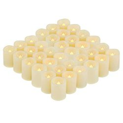 36 Pack Flameless Battery Operated LED Votive Candles Flickering Electric Fake Tea Lights Candle ...
