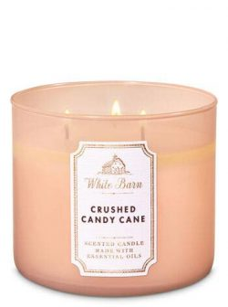 White Barn Bath & Body Works 3-Wick Scented Candle in Crushed Candy Cane(2019)