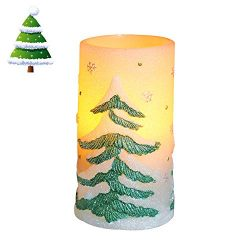 Romingo Christmas Tree Flameless Led Candle Battery Operated Real Wax Candle with 4&8 Hour T ...