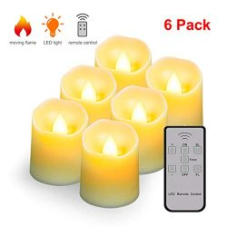 Flameless Candles Tea Light with Remote&Battery Operated Up to 200 Hours,Decorative LED Flic ...