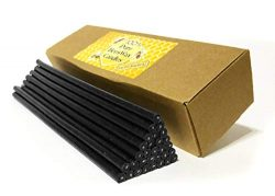 Natural Pure Beeswax Candles Organic Honey Eco Black Color Candles in Gift Box (Natural Cotton W ...