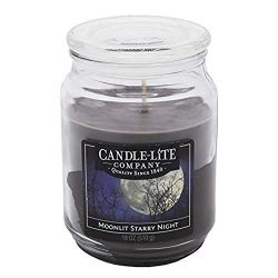 Candle-Lite Everyday Scented Moonlit Starry Night 3-Wick Jar Candle, 18 oz, Gray