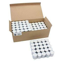 Stonebriar Long Tealight Candles, 6 to 7 Hour Extended Burn Time, Bulk 300-Pack, 300 Pack, White
