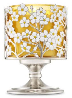 Bath Body Works Pedestal 3 Wick Candle Sleeve Spring Flower
