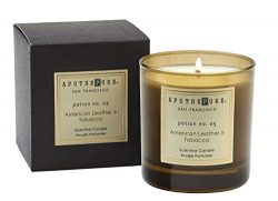 ApothePure Classic Candle, American Leather and Tobacco, Potion No. 05, 8 Ounce