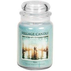 Village Candle Rain 26 oz Glass Jar Scented Candle, Large
