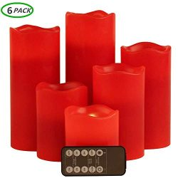 Flameless candles,Battery operated candles Led candles battery candles Red candles Flameless can ...
