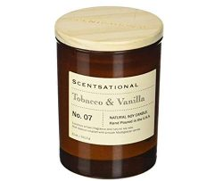 Scentsational Apothecary – Tobacco & Vanilla Candle, Medium, Amber